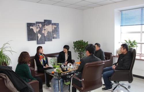 滨州技术学院朱莉院长一行来唐山创元教育走访参观