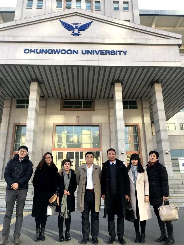 青岛求实职业技术学院代表团访问韩国青云大学