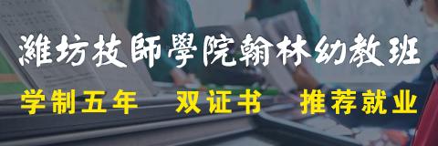 潍坊技师学院翰林幼教定向班
